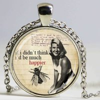 animal poetry - book sylvia plath poetry necklace literary necklace art pendant