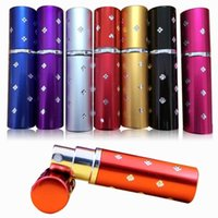 anodized metal - 5ml Aluminium Anodized Compact Perfume Aftershave Atomiser Atomizer fragrance glass scent bottle I201661203