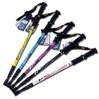 anti shock poles - DHL Trekking Poles Adjustable Retractable Anti Shock Durable Aluminum Hiking Sticks for Outdoor Walking Trekking Climbing Piece