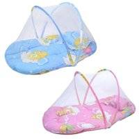 baby mosquito net - New Baby Infants Insect Netting Portable Baby Bed Crib Folding Mosquito Net Infant Cushion Mattress with Pillow