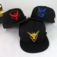 Wholesale 2016 New Hot Sale Adjustable Poke Go Caps Fashion Snapbacks Hats Sports Hip Hop Hats Outdoor Caps Unisex Women and Men Summer Cap