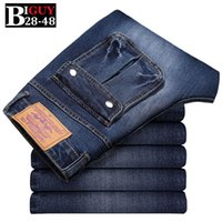 big guy fashion - Big Guy Store PLUS Size Blue Slim Fit Men Jeans Fashion Denim Jeans Trousers Cheap Jeans Men Elastic jean