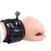 Wholesale 360 degree Rotation gopro Wrist Mount Hand Strap for GoPro Hero hero4 Gopro Wrist Band Arm Shell Strap