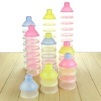 3-4-5 célula infantil del bebé de silicona Caja de almacenamiento de leche del alimento del recién nacido de alimentación de polvo dispensador de contenedores de viaje adecuado