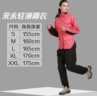 Wholesale Sports outdoor climbing female fashion raincoat rain pants suit riding Fishing Leisure lint body raincoat