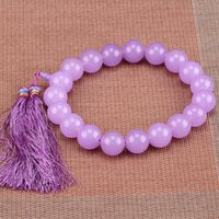 beautiful rosaries - Beautiful rosary beads bracelet purple MM jade beaded hand chain like Sourdrang Dowager handed in the China TV Kangxi Dynasty