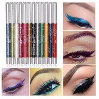 auto easy - 12 Colors Eyeliner DHL Auto Rotate Ultra Bright Eyeshadow Lip Liner Eyeliner Pen Makeup Kit Eyes Eyeliner Pen b