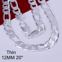 big beautiful men - men jewelry fashion silver beautiful new big chain inch necklace Super price YBLN196
