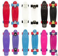 Wholesale Fish shaped skateboard children plastic four wheel banana board adult inch single rocker boardThe standard size is cm cm