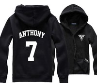 apple hoody - Carmelo Anthony MELO Big Apple Print Original Design Warm Casual Polar Fleece Hoody Hoodies Sweatshirts Jackets
