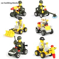 best model cars - Kids Car Moble Blocks Toys Army Car Mini figures toys complete set of car toy with model Best boys Birthday gifts