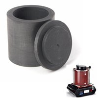 Wholesale 40 x mm High Purity Graphite Melting Crucible Casting With Lid Cover For Silver Weight g High temperature Resistance