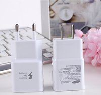Wholesale EU US Plug V A V A Fast Charging Wall Charger Home Travel Adapter Power for Samsung s6 S5 note4 N7100 S7