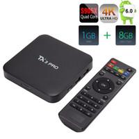 Wholesale US Stock TX3 PRO S905X Android Marshmallow TV Box Quad Core G G Media Player HDMI Media Player Set Top Box