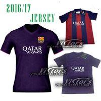 Wholesale 2016 BARCELONAIZES casa de NEYMAR JR a Iniesta SUAREZ longe terceira camisa
