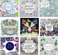 Wholesale Newest style Coloring Books Relieve Stress Books Lost Ocean Secret Garden Zen Mandalas Time Travel Wonderland Exploration