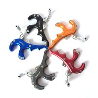 archery release - hot selling compound bow release aid grip type wrist clamp hook type archery accessories C stainless steel aluminum