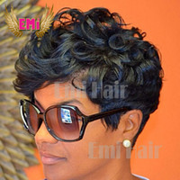 short hair wigs - Human hair wigs Afro Curly short glueless wig Human Hair afro kinky curly wig brazilian hair lace front wigs for black women New Arrival