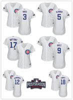 Wholesale 2016 Postseason Patch Women s Chicago Cubs Jerseys Almora Baez Kyle Schwarber Kris Bryant Ben Zobrist Cubs Jersey