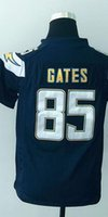 authentic gates jersey - 2016 DC Antonio Gates Youth Football Jerseys Best quality Authentic Jersey Size S M L XL Mix Order