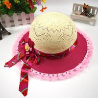 Wholesale Girl Beach Hat Sun Protection Caps Baby Straw Plaited Article Sun Visor Caps Sports Outdoors Baseball Caps