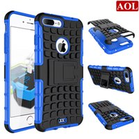 Wholesale For iphone plus s plus s SE C Hybrid Kickstand Rubber Armor Hard PC TPU Stand Function Cover Cases free gifts