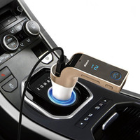Wholesale 2016 in Hands Free Wireless Bluetooth FM Transmitter Modulator Car Kit MP3 Player SD USB LCD Car Music Player G7 AUX