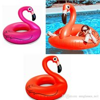 Cheap 1.2M Giant Swan Inflatable Flamingo Float Swan Inflatable Floats Swimming Ring Raft Swimming Pool Toys For Kids And Adult PPA256