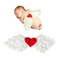 angels crochet - Angel wing newborn photography props infant crochet outfits photo studio wool bonnetprops baby newborns fotografia casquette enfant GCL0037