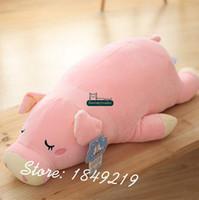 big polar bear stuffed animal - Dorimytrader cm Big Lovely Plush Soft Stuffed Animal Polar Bear Toy Cartoon Pink Sleeping Bear Doll Nice Gift DY61171