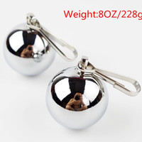 adult add - 8OZ CHROME BALL WEIGHTS Sex Toys for Adult CBT Sex Games Ball Stretcher Add Weight