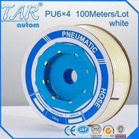 Plastic PU -20℃~=60℃ Pneumatic Parts4x6 Pneumatic air Hose OD 6MM ID 4MM PU Tube Plastic Flexible Pipe PU 6*4 Polyurethane Tubing 10 meters white