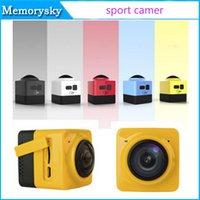 Nuevo cubo 360 Acción Mini Deportes cámara 720P 360 grados panorámica VR cámara Mini DV ultra viaje de la vida Construir-en la cámara de WiFi de la venta caliente