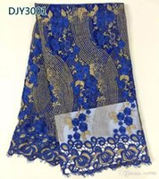 Wholesale african swiss voile lace high quality wedding embroidered swiss voile lace fabric nigeria lace dp DJY30