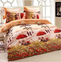 beach style comforters - High Quality Bedclothes D On Beach Bedding Set King Queen PC Bed sheet PC Comforter Cover Pillow Covers