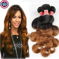 Wholesale 1b30 Brazilian Ombre Hair Extensions BodyWave Brazillian Ombre Hair Weave Bundles Percent Human Hair Weave A Brazilian Ombre Body Wave