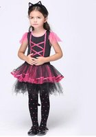 Wholesale Children Costumes Cat Dress Suit Hot Dancewear Cosplay Dress Product includes the Swimsuit Cloth and Net colth Best Quality Lovely Girl