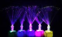 Wholesale New design luminous led fiber flower colorful flashing light optic fiber lamp glow toy show dance party novelty toys