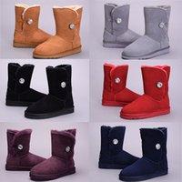 australian wool boots - Brand Australian Sheepskin Wool Sheep Skin Fur Snow boots winter boot warm boots color