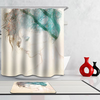 bathroom decor collections - Cartoon Decor Collection Polyester Fabric Bathroom Shower Curtain Set with Plastic Hooks x70 inch Waterproof