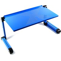 adjustable laptop tray - DHL free Adjustable Vented Laptop Table Laptop Computer Desk Portable Bed Tray Book Stand Multifuctional Ergonomics Design Dual Layer Table