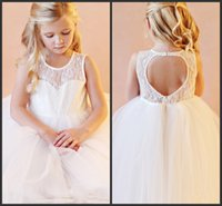 Wholesale Sweetheart Neckline Communion Dress - Ball Gown Lace Cute Girl Dress The Representative Has Grown Up Hot Sales Scoop Sweetheart Neckline Backless Sleeveless Tulle Girls Long