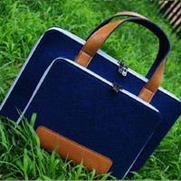Wholesale Professional Laptop Computer Briefcases for inch Dispaly Felt Notebook Pure Color Fashional Design