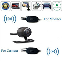 Wholesale Car Cam Wireless - 2016 New A Brand-new Car Wireless Rear View Reverse Backup Camera Waterproof Cam Safe Parking wireless Transmitter And Receiver Cables for