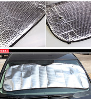 auto sun screen - MOQ for cheap front windshield shades Covers Visor front car Screen foldable Bubbles Auto Sun Reflective Shade High Quality