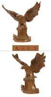 arts and crafts copper - 2016 best selling fashion feng shui classical Chinese folk arts and crafts copper hand carved animal mirs eagle statue