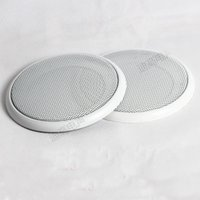 audio dust covers - 16 inch subwoofer speakers grille speaker decoration ring car grille audio dust cover white grille speaker accessories