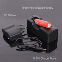 alkaline base - Batteries Rechargeable Batteries x18650 V mAh Rechargeable Battery Single Charger Base AC Adapter for LED Flashlight