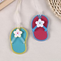 baby bag tags - Silicone Flip Flop Luggage Tag Suitcase Bag Tag Travel Accessories Beach Style Baby Shower Wedding Christmas Party Gift ZA1292