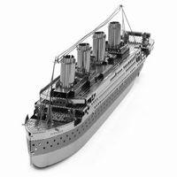 Wholesale Wu Mengyao Creative D Laser Cute Classical Models Metallic Titanic Nano Puzzle Silver kids